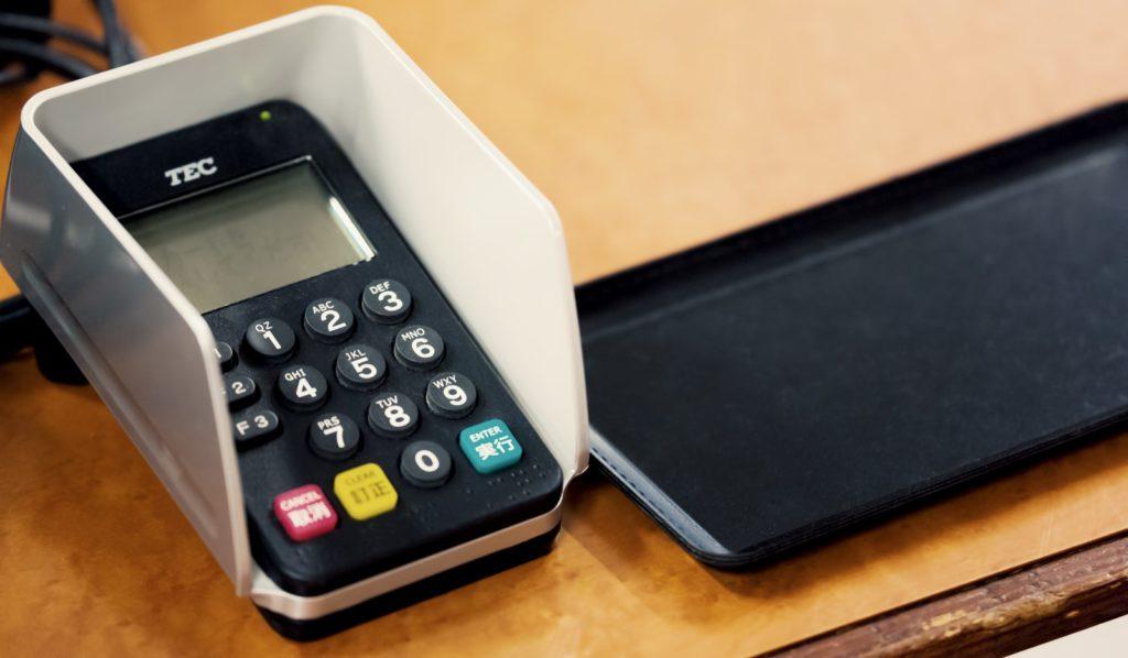 クレジットカード端末。